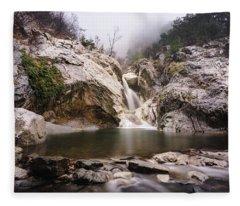 Suchurum Waterfall, Karlovo, Bulgaria Fleece Blanket
