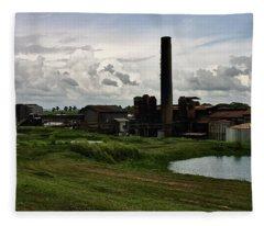 Sugar Factory I, Usine Ste. Madeleine Fleece Blanket