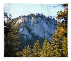 Suicide Rock - Idyllwild Fleece Blanket