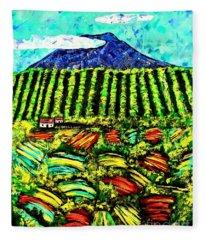 Sumatra Coffee Plantation Fleece Blanket