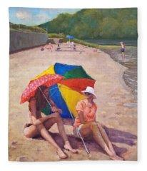 Summer At Jersey Valley Fleece Blanket