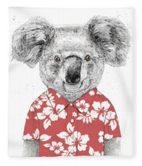 Summer Koala Fleece Blanket
