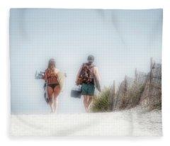 Summer Memories Begin To Fade Fleece Blanket