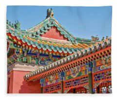 Summer Palace In Beijing Fleece Blanket