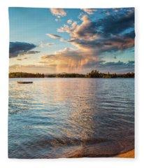 Summer Shower  Fleece Blanket