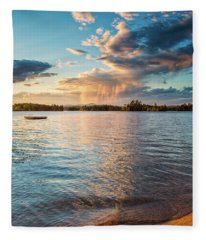 Summer Shower  Fleece Blanket