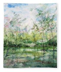 Summer Silence  Fleece Blanket