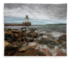 Summer Tides At Bug Light Fleece Blanket
