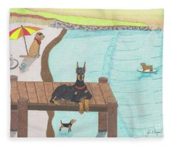 Summertime Fun Fleece Blanket