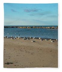 Sun Bathers At Corporation Beach Cape Cod Fleece Blanket
