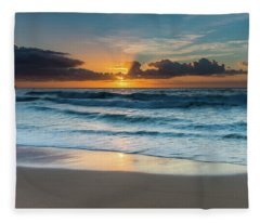 Sun Glow Seascape Fleece Blanket