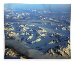 Sun Kissed Glaciers Fleece Blanket