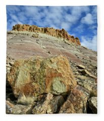 Sun Lights Red Point And Boulders Fleece Blanket