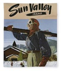 Sun Valley, Idaho Fleece Blanket