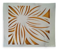 Sunburst Petals Fleece Blanket