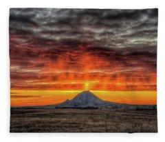 Sunday Sunrise Nov. 11, 2018 Fleece Blanket