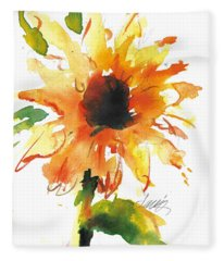 Sunflower Too - A Study Fleece Blanket
