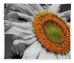 Sunflower And Shy Friend Fleece Blanket