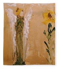 Sunflower Angel Fleece Blanket