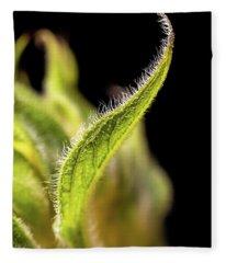 Sunflower Leaf Fleece Blanket