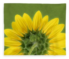 Sunflower Sunrise - Botanical Art Fleece Blanket