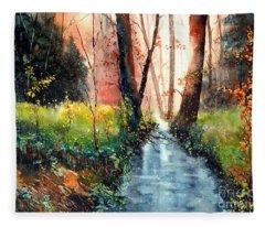 Sunlight Colorful Path Fleece Blanket
