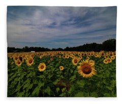 Sunny Faces In New Hampshire Fleece Blanket