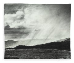 Sunny Rainfall Fleece Blanket