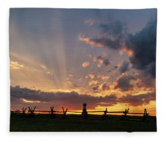 Sunrays At Sunset Fleece Blanket