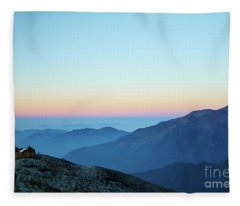 Fleece Blanket featuring the photograph Sunrise Above Mountain In Valley Himalayas Mountains Mardi Himal by Raimond Klavins