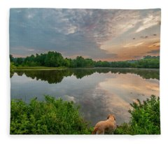 Sunrise At Ross Pond Fleece Blanket