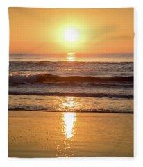 Sunrise At Surfers Paradise Fleece Blanket