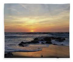 Sunrise At The 15th St Jetty Fleece Blanket