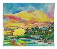 Sunrise At The Islands Fleece Blanket