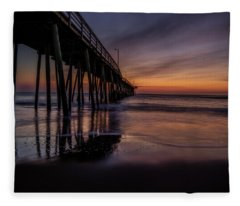 Sunrise At The Pier Fleece Blanket