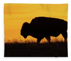 Sunrise Bison Fleece Blanket