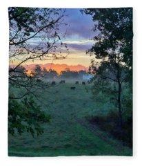 Sunrise Breakfast Fleece Blanket