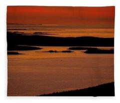 Sunrise Cadillac Mountain Fleece Blanket