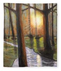 Sunrise Creek II Fleece Blanket