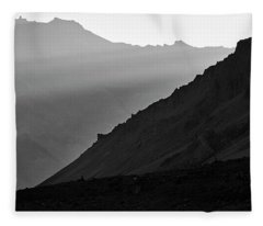 Fleece Blanket featuring the photograph Sunrise In The Himalayas by Whitney Goodey