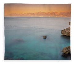 Sunrise In Turkey Fleece Blanket