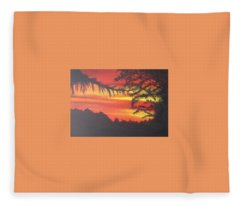 Sunrise Fleece Blanket