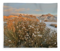 Sunrise On Colorado National Monument And Ruby Mountain Fleece Blanket