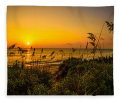 Sunrise On The Dunes  Fleece Blanket