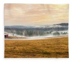 Sunrise On The Farm Fleece Blanket