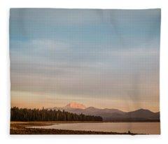 Sunrise On Westshore Lassen Peak Fleece Blanket