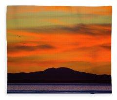 Sunrise Over Santa Monica Bay Fleece Blanket