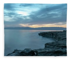 Before Dawn At The Dead Sea Fleece Blanket