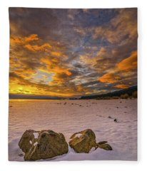 Sunrise Rocks Fleece Blanket