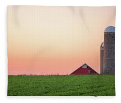 Sunrise Silos Fleece Blanket